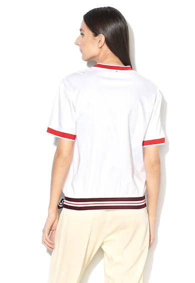Sportmax Code Tricou din amestec de modal, cu garnituri contrastante Oblare Femei