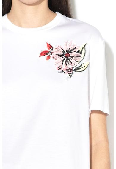 Sportmax Code Tricou din amestec de modal, cu broderie florala Ercole Femei