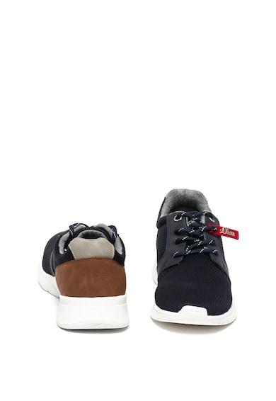 s.Oliver Pantofi sport cu insertii de piele ecologica Barbati