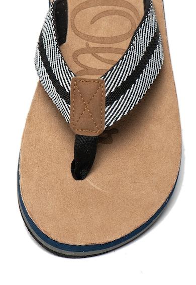 s.Oliver Papuci flip-flop din material textil cu insertii de piele ecologica Barbati