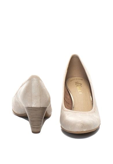 s.Oliver Pantofi de piele ecologica cu detaliu logo Femei