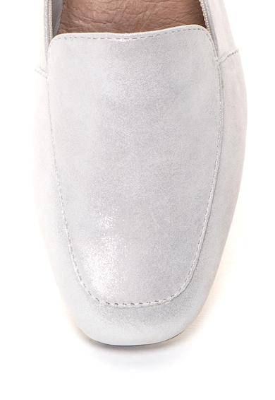 s.Oliver Pantofi loafer de piele intoarsa cu aspect stralucitor Femei
