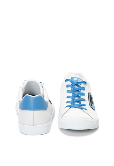 Trussardi Jeans Pantofi sport de piele cu aplicatie cauciucata cu logo Barbati