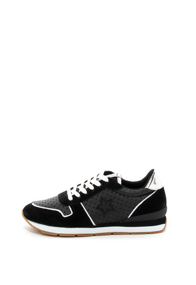 Trussardi Jeans Pantofi sport de piele ecologica, cu garnituri de piele intoarsa Femei