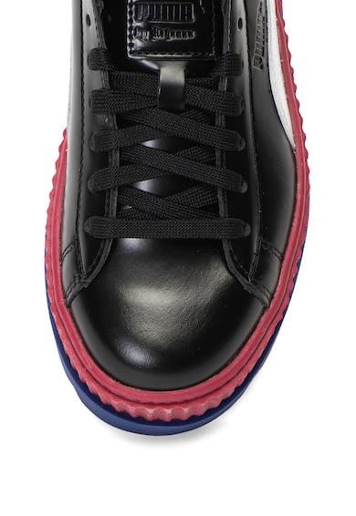 Puma Кожени спортни обувки Fenty x Puma със скосена платформа и каишка Жени
