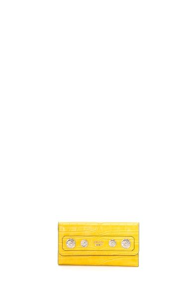 Guess Portofel de piele ecologica cu logo metalic Femei