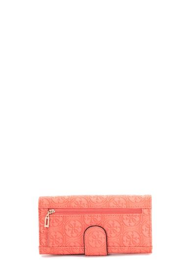 Guess Portofel de piele ecologica cu logo stantat Heritage Femei