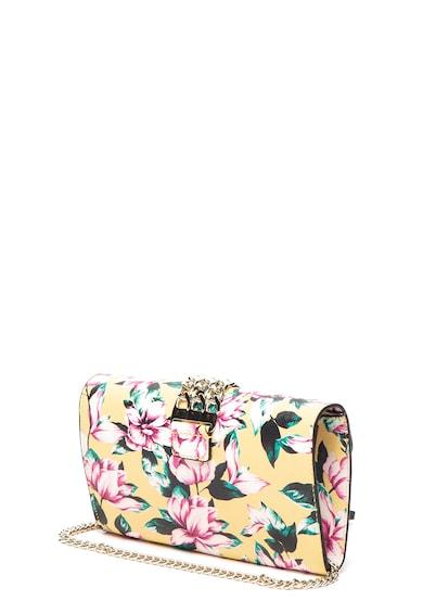 Guess Prisma műbőr virágmintás keresztpántos táska női