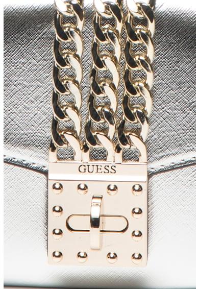 Guess Prisma műbőr virágmintás keresztpántos táska levehető láncos pánttal női