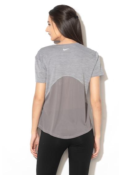 Nike Tricou sport cu Dri-Fit si insertii de plasa, pentru alergare Femei