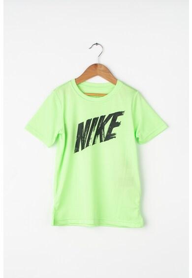 Nike Tricou cu imprimeu logo si Dri-Fit, pentru fitness Baieti