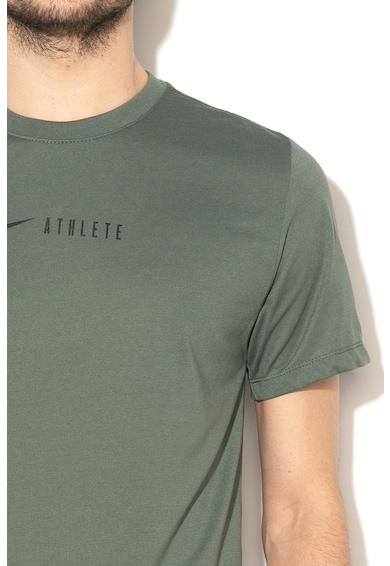 Nike Tricou cu imprimeu logo si Dri-Fit, pentru fitness Barbati