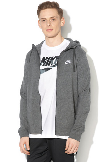 Nike Hanorac cu fermoar si logo brodat Barbati