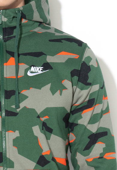Nike Hanorac cu fermoar si model camuflaj Barbati