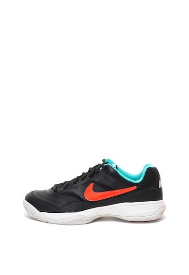 Nike Pantofi cu insertii de piele, pentru antrenament Court Lite Barbati