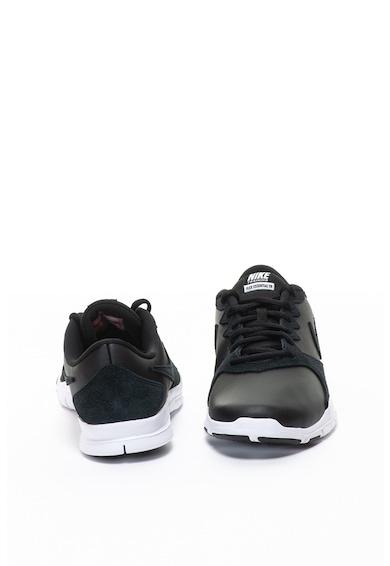 Nike Pantofi sport de piele ecologica cu garnituri de piele intoarsa, pentru fitness Flex Essential Femei