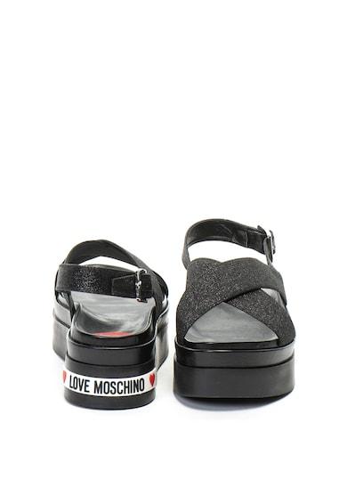 Love Moschino Flatform szandál csillámos keresztezett pántokkal női