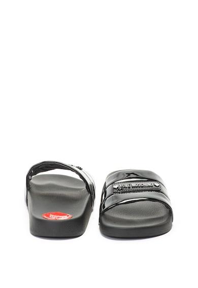 Love Moschino Чехли с лачен ефект и лого Жени