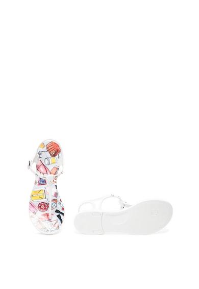 Love Moschino Sandale cu bareta separatoare si aplicatie cu tinte in forma de inima Femei