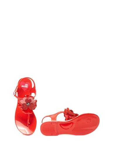 Love Moschino Jelly szandál virágos rátéttel női