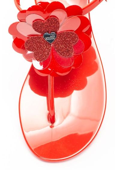 Love Moschino Сандали Jelly с Т-образна каишка и апликации Жени