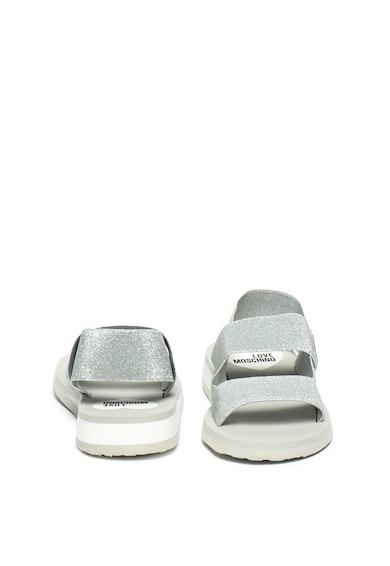 Love Moschino Sandale cu bareta slingback si aspect lucios Femei