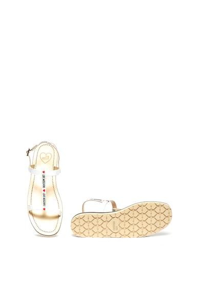 Love Moschino Sandale cu barete multiple si detaliu logo Femei