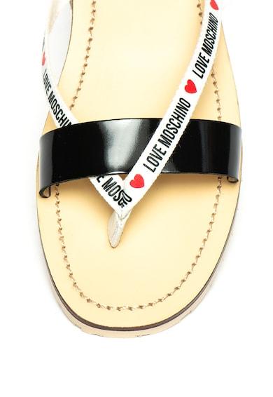 Love Moschino Flip-flop papucs bőrpánttal női