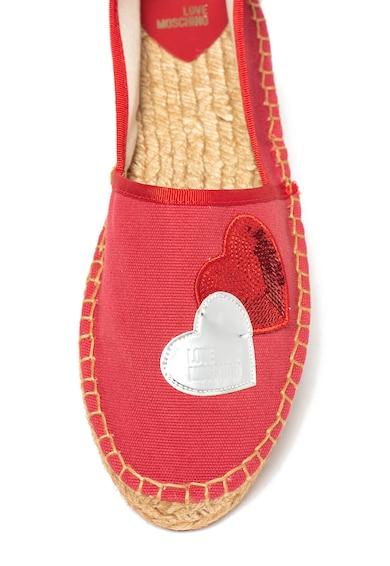 Love Moschino Bebújós espadrille cipő szíves rátétekkel női