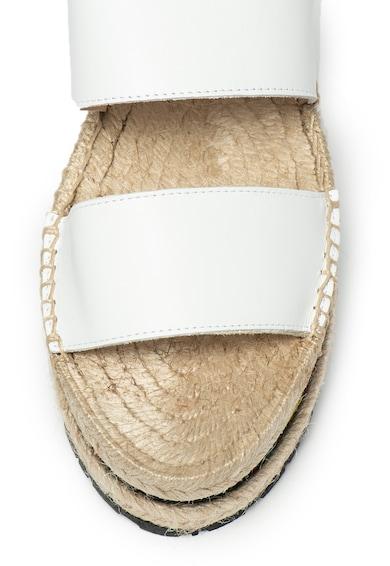 Love Moschino Bőr flatform szandál női
