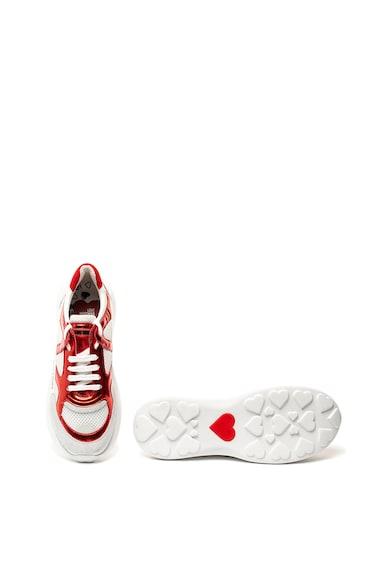 Love Moschino Flatform sneaker nyersbőr szegélyekkel női