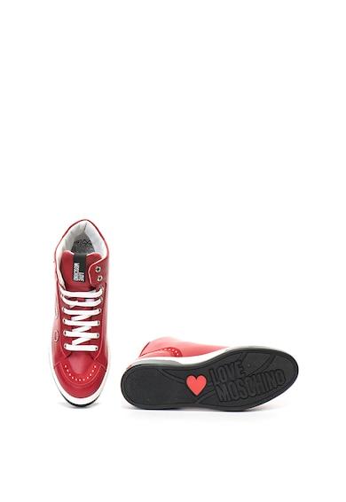 Love Moschino Középmagas szárú műbőr sneakers cipő szegecsekkel női