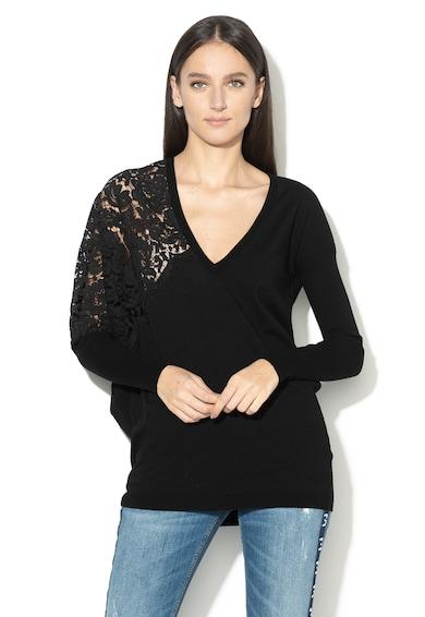 Liu Jo Aszimmetrikus pulóver csipkebetéttel női