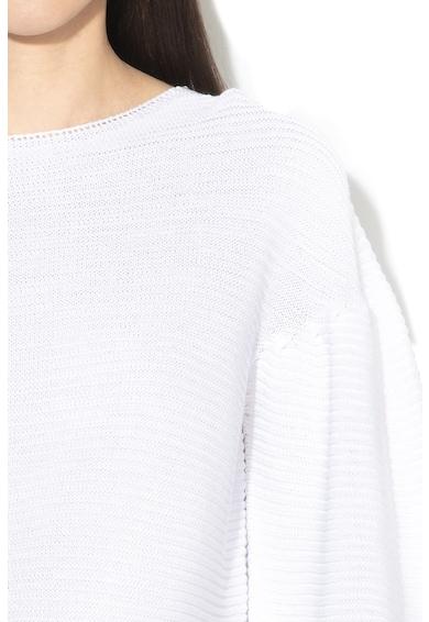 Liu Jo Bordázott pulóver puffos ujjakkal női
