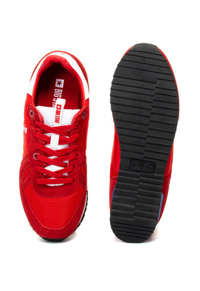 Big Star Pantofi sport de piele intoarsa si plasa Barbati
