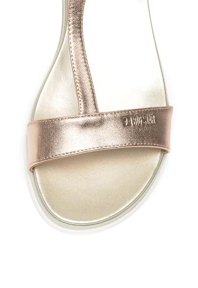 Big Star Sandale de piele cu bareta in forma de T Femei