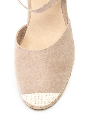Big Star Sandale tip espadrile cu talpa wedge si aplicatie cap-toe Femei