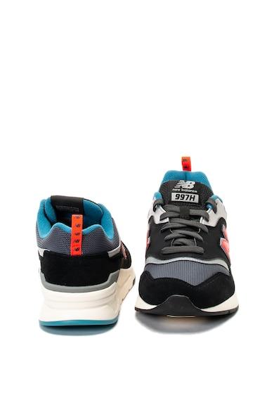 New Balance Pantofi sport din piele intoarsa si material textil 997H Barbati