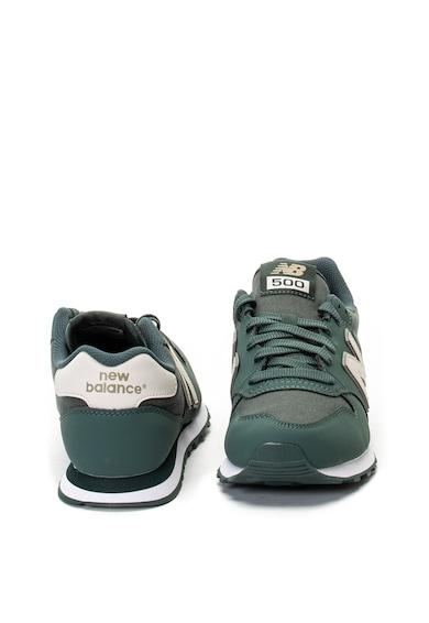 New Balance Pantofi sport din piele si material textil 500 Barbati