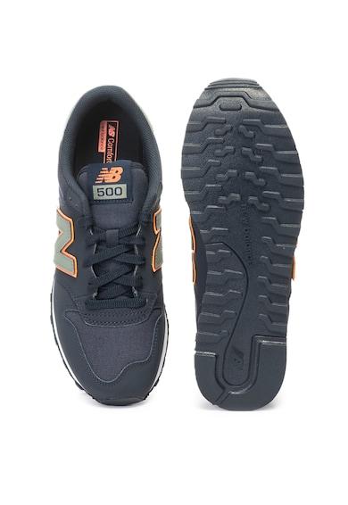 New Balance Pantofi sport de piele ecologica si material textil  500 Barbati