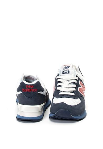 New Balance 574 nubuk bőr és hálós sneakers cipő férfi