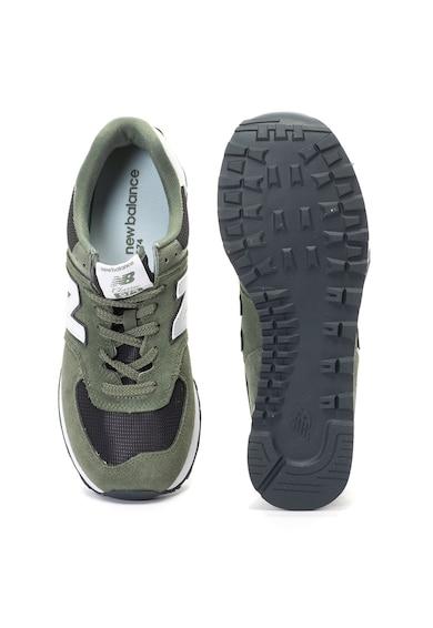 New Balance 574 nyersbőr és hálós anyagú sneakers cipő férfi