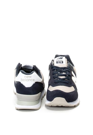New Balance 574 nyersbőr sneakers cipő textilbetétekkel férfi