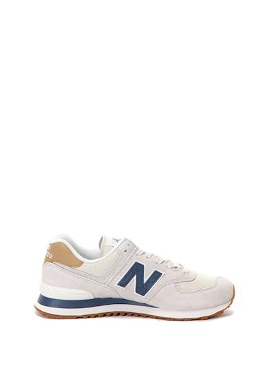 New Balance Pantofi sport de piele intoarsa cu garnitura de piele 574 Barbati