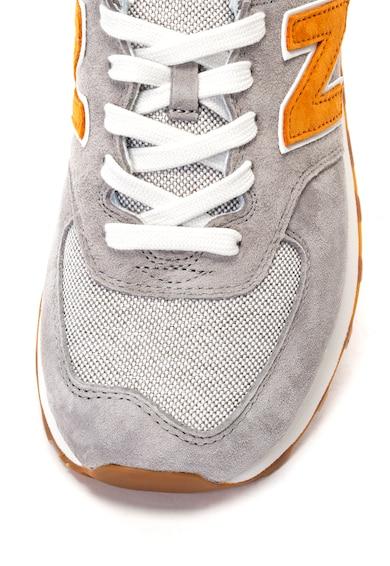 New Balance Pantofi sport de piele intoarsa cu insertii textile 574 Barbati