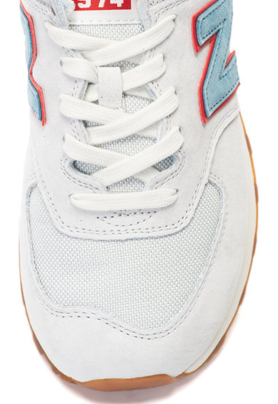 New Balance Спортни обувки 574 от набук с мрежа Мъже