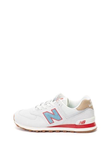 New Balance Pantofi sport de piele nabuc si plasa 574 Barbati