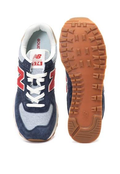 New Balance Спортни обувки 574 от велур и текстил Мъже