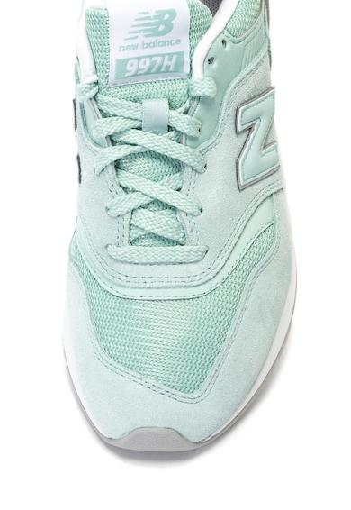 New Balance Pantofi sport de piele intoarsa cu garnituri de piele ecologica 997H Femei