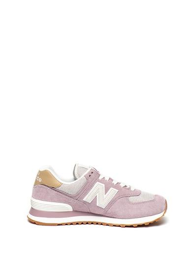 New Balance Pantofi sport cu garituri de piele intoarsa 574 Femei
